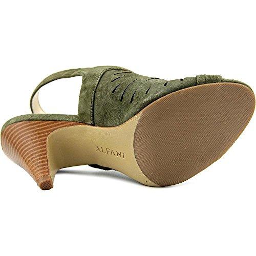 Olive Pumps Open Primere Leather Toe Alfani Classic Womens Slingback qS1w8