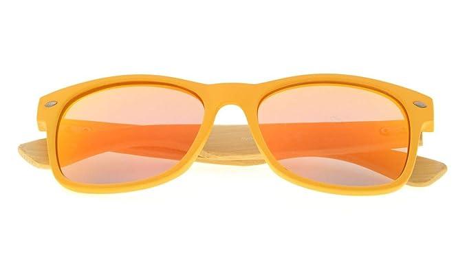 Eyekepper Gafas de Sol Polarizadas Clásicas con Brazo de Madera de Bambú para Hombre