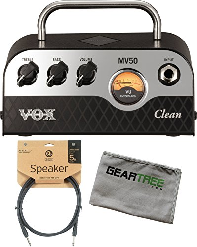 Vox MV50 50w Clean Head w/ Cleaning Cloth and Speaker Cable by V O X