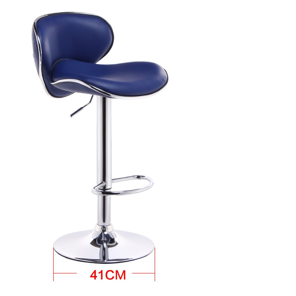 bluee Greawei@ Bar Stool chair Lift chair bar Stool high Stool Comfortable and Durable (color   pink red)