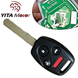 YITAMOTOR 2003 2004 2005 2006 2007 Honda Accord Keyless Entry Remote Car Key Fob for OUCG8D-380H-A with 46 Chip