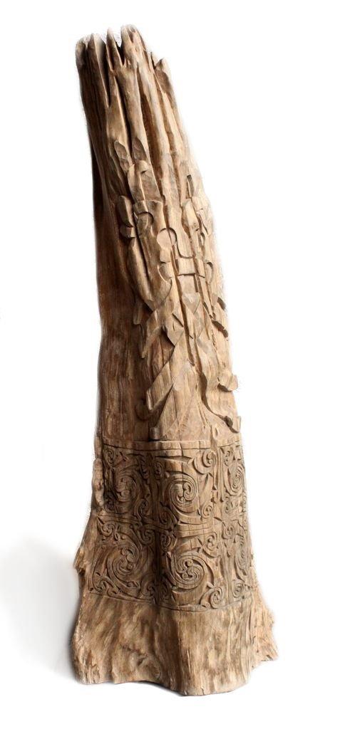 windalf Wohndeko - Tronco ~ Máscara de Odín ~ H: 119 cm - Hierro ...