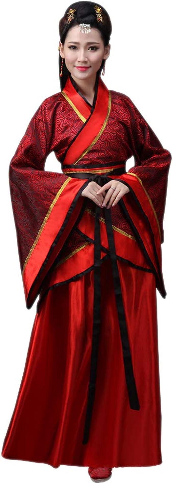 XFentech Mujer Disfraz de Actuaciones Hanfu Tradicional Traje de ...