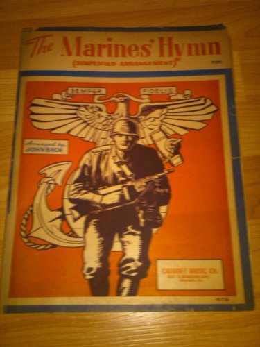 Vintage Sheet Music: The Marines' Hymn (Simplified Arrangment) -- Piano/Vocal ()