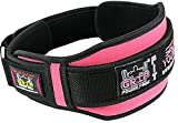 Pro Lifting Belt for Women - Black and Pink Weightlifting Support Belt - 5