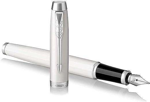 Parker Vector XL Fountain Pen Medium Nib Silver Gray