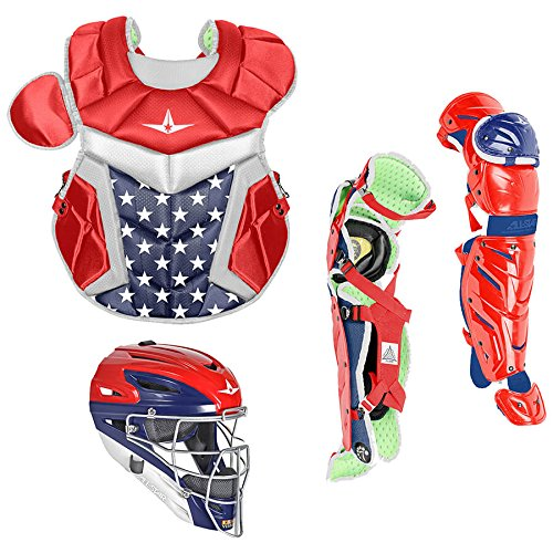 All Star System7 Axis Usa Pro Youth Catchers Set Red/White/Blue