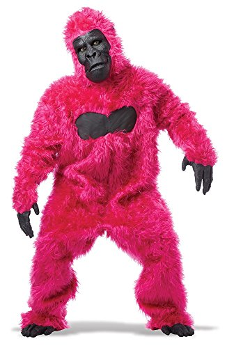 California Costumes Men's Full Gorilla Suit Costume, Pink, One Size (Book Costumes For Adults)