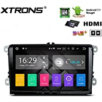 XTRONS HDMI Android 7.1 Quad Core 7 Inch HD Digital Touch Screen Car Stereo Radio Player GPS for VW Seat Skoda