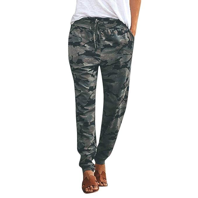 ASHOP Hosen Damen, Frauen Camouflage Hose Casual Elastischer