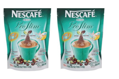 2 X Nescafe Protect Instant Coffee 3 in 1 Proslim Diet Slimming Coffee 10 Sachets