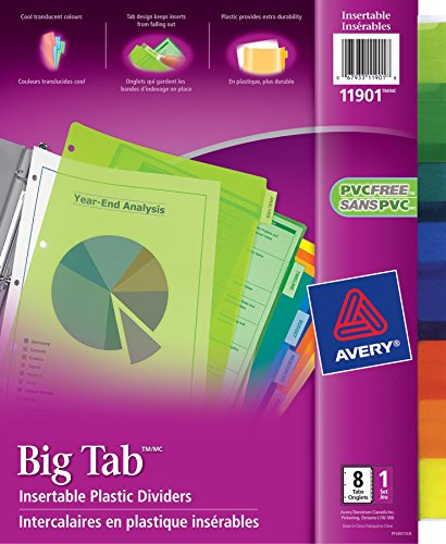 AVE11901 - Avery Big Tab Plastic Insertable Divider Photo #6