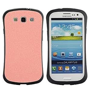 Paccase / Suave TPU GEL Caso Carcasa de Protección Funda para - glitter peach plastic sandpaper pink - Samsung Galaxy S3 I9300