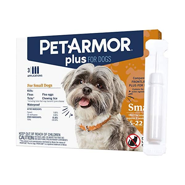 PETARMOR-Plus-for-Dogs-Flea-and-Tick-Prevention-for-Small-Dogs-5-22-Pounds-Long-Lasting-Fast-Acting-Topical-Dog-Flea-Treatment