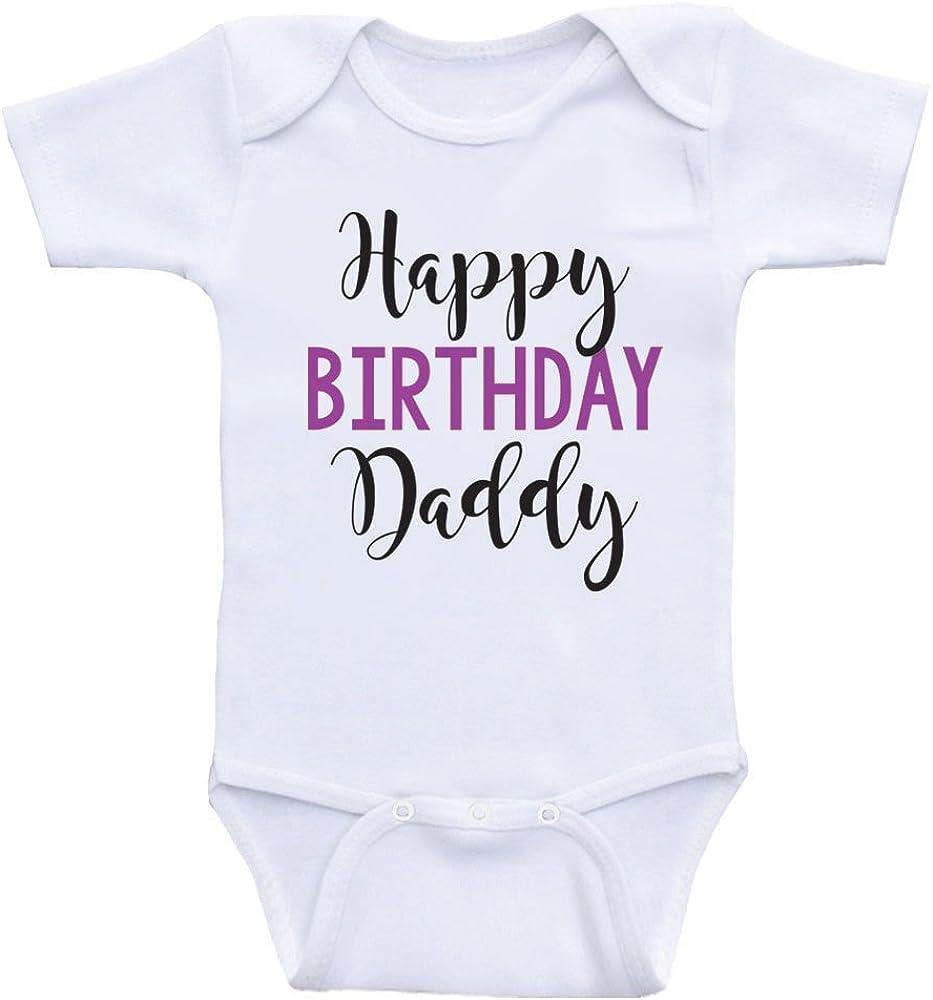 Heart Co Designs Birthday Baby Onesie Happy Birthday Daddy Dads Birthday Baby Clothes