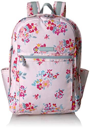 (Vera Bradley Women's Lighten Up Grand Backpack, Tossed Posies Pink)