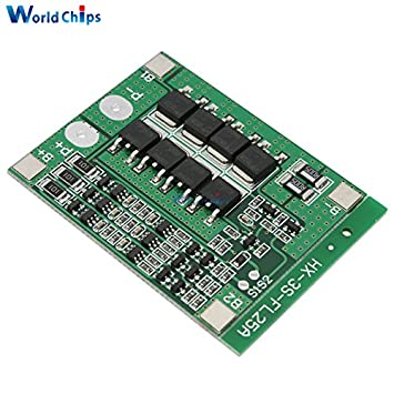 3S 25A Li-ion 18650 BMS PCM battery protection board bms pcm with balance  for
