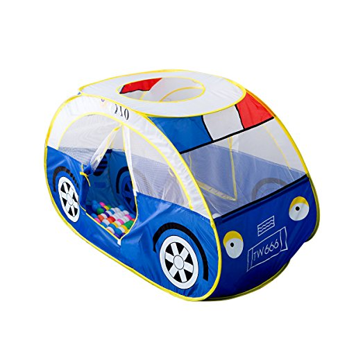 Anyshock Large Police Car Tents, Waterproof Indoor and Outdoor Cute Car Play House/Castle/Tent Toys as a for 1-8 years old (Indoor Toys)