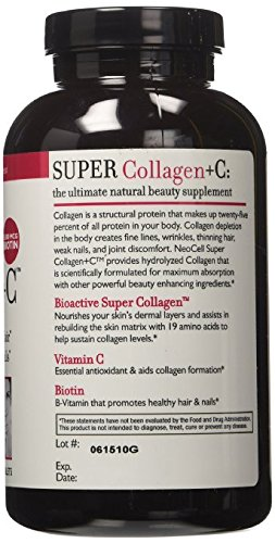 NeoCell Super Collagen Type I & III + Vitamin C, 360 tablets per bottle, total of 720