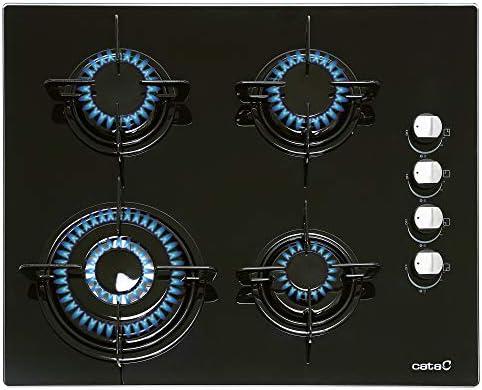 CATA CIB 6031 BK Integrado Encimera de gas Negro - Placa (Integrado, Encimera de gas, Vidrio, Negro, Esmaltado, 1000 W): 129.76: Amazon.es: Grandes electrodomésticos