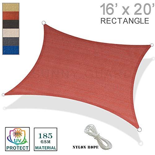 SUNNY GUARD 16' x 20' Terra Rectangle Sun Shade