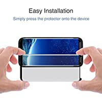 acetend Galaxy S8 Screen Protector,Samsung S8 Tempered Glass Protector,Case Friendly,3D Curved,HD Clear,Scratch Resistant,Bubble Free,Glass Screen Protector for Samsung Galaxy S8 5.8 by Acetend