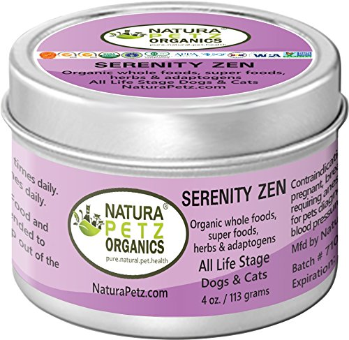 Natura Petz Organics Serenity Zen Anti-Stress & Anti Anxiety Flavored Meal Topper for Dogs & Cats by Natura Petz Organics