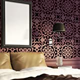 J BOUTIQUE STENCILS Moroccan Trellis Wall Allover Stencil Pattern Bonnie for Modern Wall Deco
