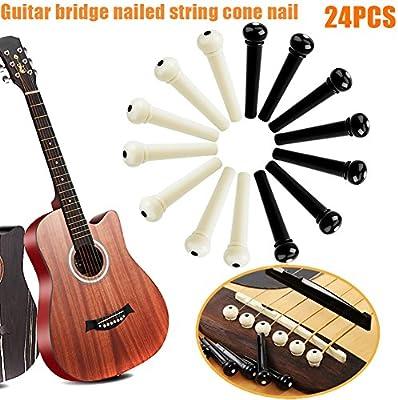 Cutogin, 24 piezas de clavos de cuerdas para guitarra con pines de ...