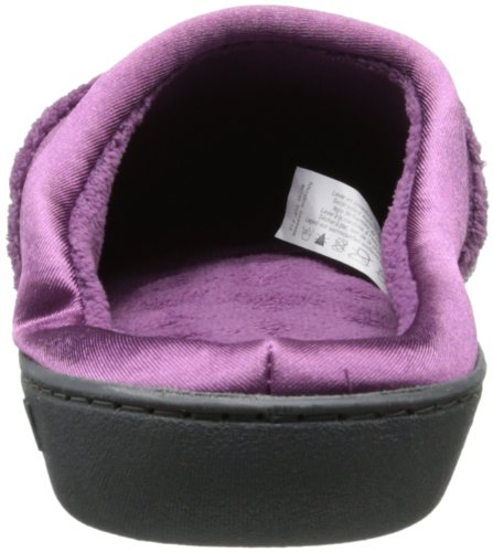 Isotoner Microterry Pillowstep Satijnen Manchet Klomp Slippers Ultra Violet