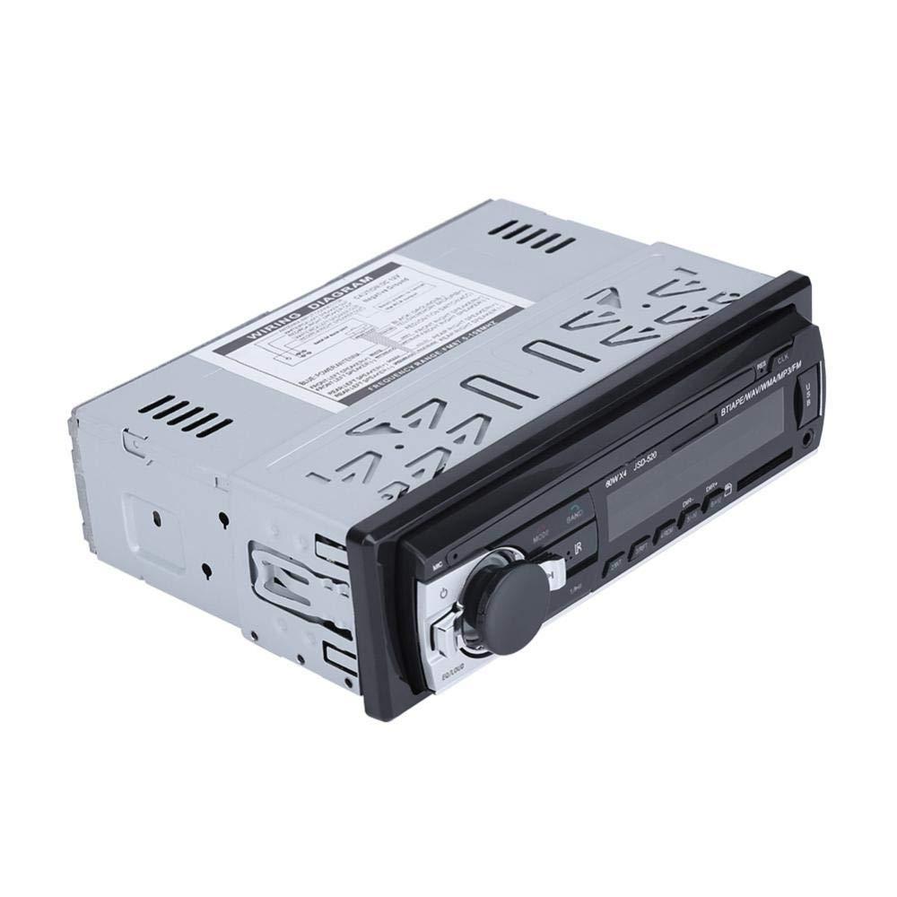 Qiilu Autoradio Bluetooth digitale MP3 USB SD AUX-IN Lettore FM In-dash 12V
