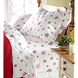 King Crystal Snowflake Cotton Flannel Sheet Set