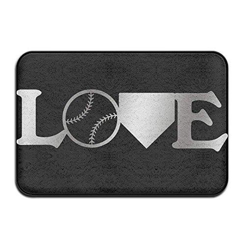 Home Door Mat Love Baseball Doormat Door Mats Entrance Rugs Anti Slip 4060 For Indoor Outdoor -