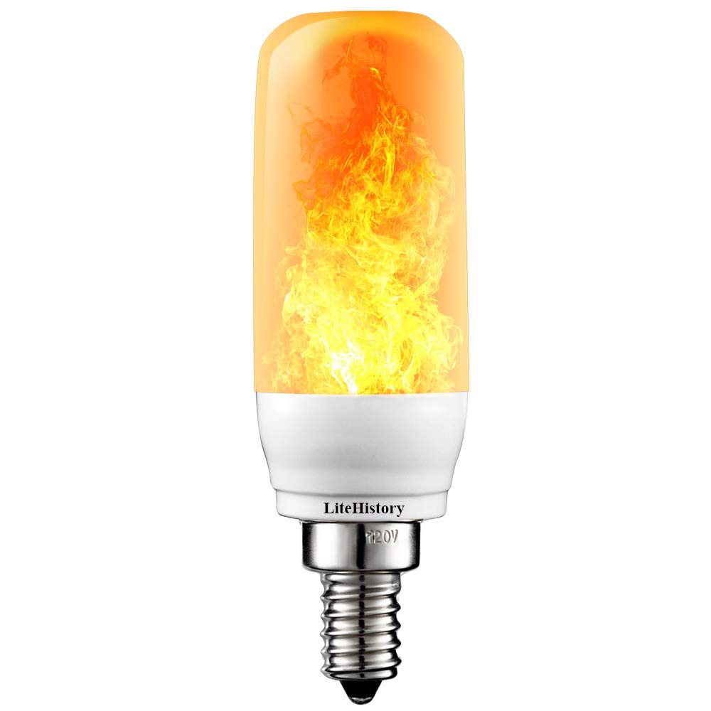 3Mode E12 LED Flame Bulb Candelabra Fire Light Bulb 3W