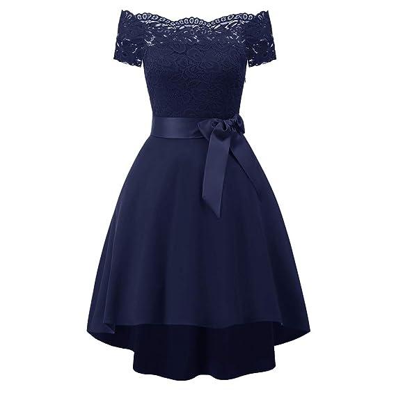 Slyar Vestido De Fiesta Mujer Largos Un Hombro Vestido De