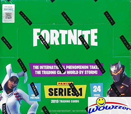 2019 Panini FORTNITE Trading Cards MASSIVE Factory Sealed 24 Pack HOBBY Box with 144 Cards! Includes (4) Epics, (2) Legendaries & (1) Holofoil Parallel Cards! Brand New! WOWZZER!