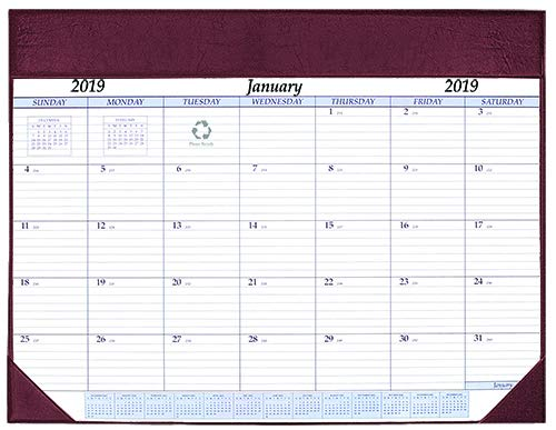 Refillable Burgundy (Payne Publishers Deluxe Desk Pad Jan 2019 - Dec 2019 17