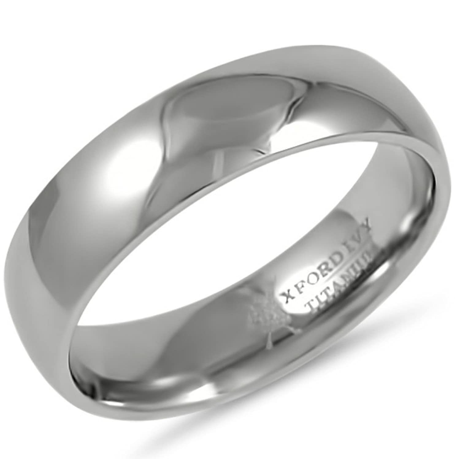 6mm Mens fort Fit Titanium Plain Wedding Band Available Ring