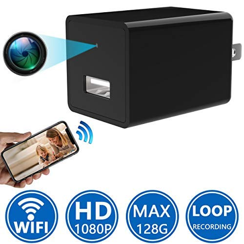 Spy Camera 1080P WiFi HD Wireless Hidden Camera Charger – USB Wall Charger Mini Camera – Home Security Camera – Motion Detection – Best Spy Camera Phone App Real-time Remote See Live Nanny Cam