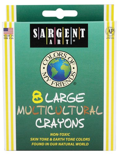 Sargent Art 35-0581 8-Crayons, Colors of My Friends, Large