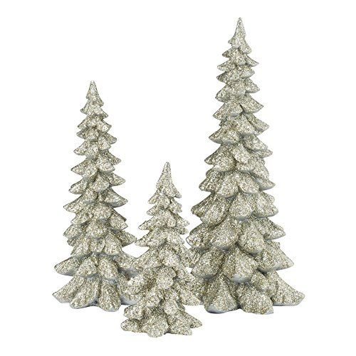 Department 56 Authentic Village Accessories Holiday Trees Figurine, Silver