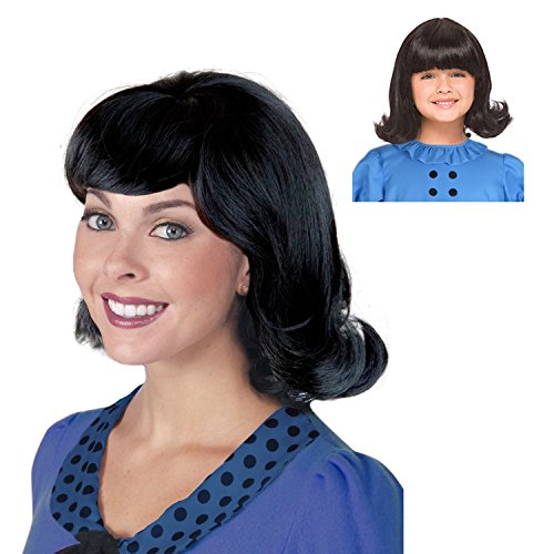 Charlie Brown And Lucy Costumes (Lucy Wig Black Flip Wig Ideal for a Lucy Van Pelt Costume Wig from Peanuts)