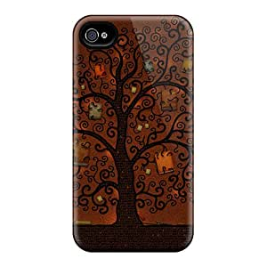 New Premium Flip Case Cover Abstract Tree Skin Case For Iphone 4/4s