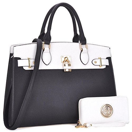 MMK collection Fashion Women Purses and Handbags Ladies Designer Satchel Handbag Tote Bag Shoulder Bags with coin purse (Z-6876-WT) by Marco M. Kerry