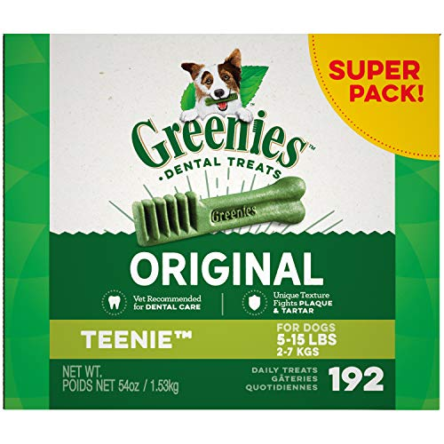 - Greenies Original Teenie Natural Dental Dog Treats, 54 oz. Pack
