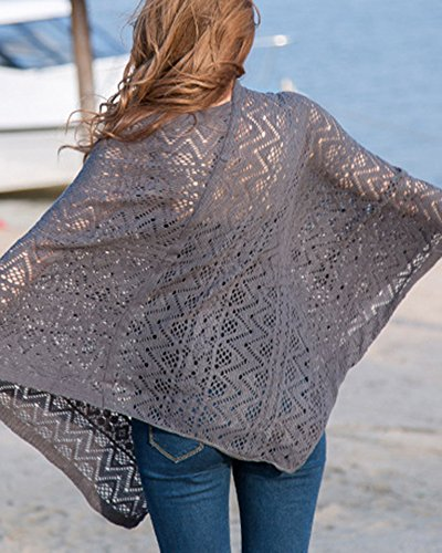 Enveloppant Haut Tricot Poncho Gris Chale Classique Poncho Cape Femme Chemise Chale cxHUYZzwq