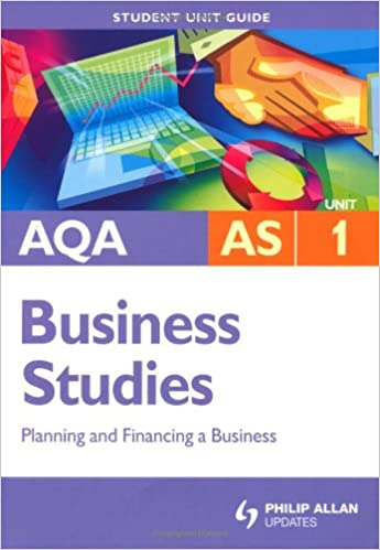 aqa as business studies student unit guide unit 1 planning and financing a business wolinski john