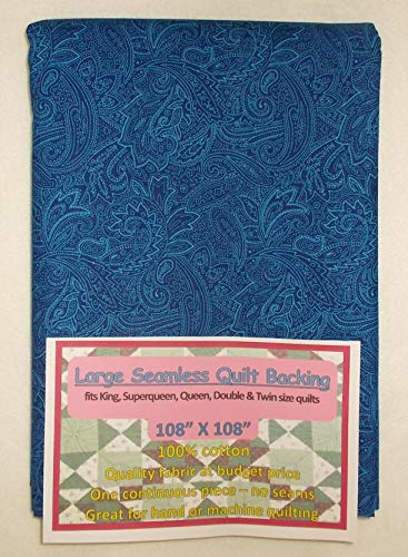 Quilt Backing, Large, Seamless, Blue, C49638-701