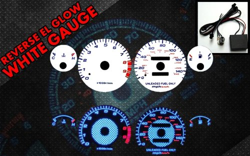 Brand New White Face Blue Indigo Reverse Glow Gauges For 94 95 96 97 98 99 00 01 Acura Integra GSR Manual Transmission-C104
