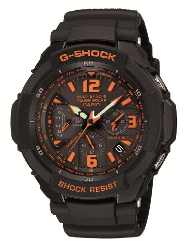 - CASIO G-SHOCK SKY COCKPIT Tough Solar Radio Controlled MULTIBAND 6 GW-3000B-1AJF (Japan Import)
